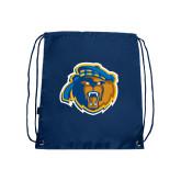 Navy Drawstring Backpack-Highlander Bear