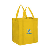 Non Woven Gold Grocery Tote-Interlocking UC Riverside