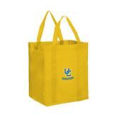 Non Woven Gold Grocery Tote-Interlocking UC Riverside