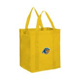 Non Woven Gold Grocery Tote-Highlander Bear