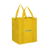 Non Woven Gold Grocery Tote-Interlocking UC Riverside Side Version