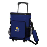 30 Can Blue Rolling Cooler Bag-Interlocking UC Riverside