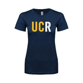 Next Level Ladies SoftStyle Junior Fitted Navy Tee-UCR
