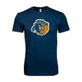 Next Level SoftStyle Navy T Shirt-Highlander Bear