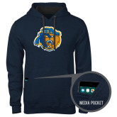 Contemporary Sofspun Navy Heather Hoodie-Highlander Bear