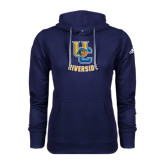 Adidas Climawarm Navy Team Issue Hoodie-Interlocking UC Riverside w/Bear Head