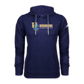Adidas Climawarm Navy Team Issue Hoodie-Interlocking UC Riverside Side Version