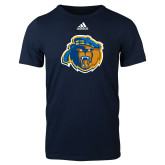 Adidas Navy Logo T Shirt-Highlander Bear