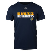 Adidas Navy Logo T Shirt-Adidas Riverside Highlanders Logo