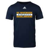 Adidas Navy Logo T Shirt-Adidas Riverside Athletics Logo