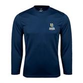 Performance Navy Longsleeve Shirt-UC Riverside Athletic Association