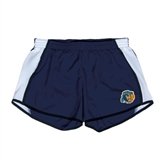 Ladies Navy/White Team Short-Highlander Bear