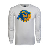 White Long Sleeve T Shirt-Highlander Bear