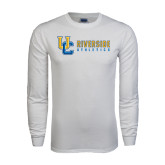 White Long Sleeve T Shirt-Interlocking UC Riverside Side Version