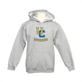 Youth Grey Fleece Hood-Interlocking UC Riverside