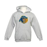 Youth Grey Fleece Hood-Highlander Bear