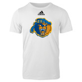 Adidas White Logo T Shirt-Highlander Bear