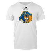 Adidas White Logo T Shirt-Highlander Bear