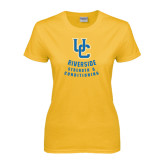 Ladies Gold T Shirt-UC Strength & Conditioning
