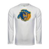 Performance White Longsleeve Shirt-Highlander Bear