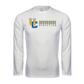 Performance White Longsleeve Shirt-Interlocking UC Riverside Side Version