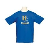 Youth Royal T Shirt-Interlocking UC Riverside