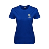 Ladies Royal T Shirt-Interlocking UC Riverside