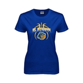 Ladies Royal T Shirt-Graphics inside Basketball
