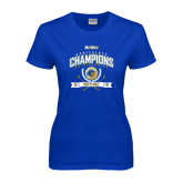 Ladies Royal T Shirt-2016 Big West Conference Champions Mens Golf