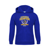 Youth Royal Fleece Hoodie-2016 Big West Conference Champions Womens Golf