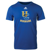 Adidas Royal Logo T Shirt-Interlocking UC Riverside w/Bear Head
