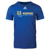 Adidas Royal Logo T Shirt-Interlocking UC Riverside Side Version