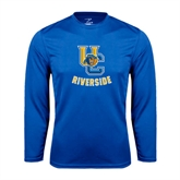 Performance Royal Longsleeve Shirt-Interlocking UC Riverside w/Bear Head
