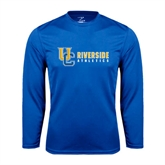Performance Royal Longsleeve Shirt-Interlocking UC Riverside Side Version