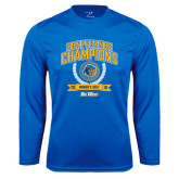 Performance Royal Longsleeve Shirt-2016 Big West Conference Champions Womens Golf