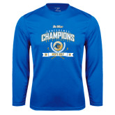 Performance Royal Longsleeve Shirt-2016 Big West Conference Champions Mens Golf