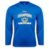 Syntrel Performance Royal Longsleeve Shirt-2016 Big West Conference Champions Mens Golf