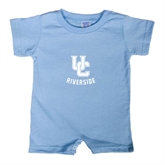 Light Blue Infant Romper-Interlocking UC Riverside