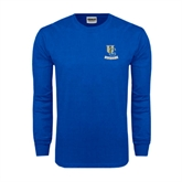 Royal Long Sleeve T Shirt-Interlocking UC Riverside