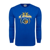 Royal Long Sleeve T Shirt-Graphics inside Basketball