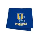 Royal Sweatshirt Blanket-Interlocking UC Riverside