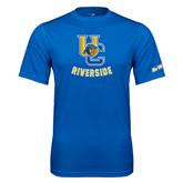 Performance Royal Tee-Interlocking UC Riverside w/Bear Head