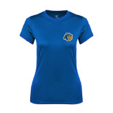 Ladies Syntrel Performance Royal Tee-Highlander Bear