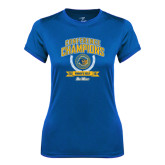 Ladies Syntrel Performance Royal Tee-2016 Big West Conference Champions Womens Golf