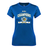 Ladies Syntrel Performance Royal Tee-2016 Big West Conference Champions Mens Golf