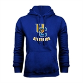 Royal Fleece Hoodie-Interlocking UC Riverside w/Bear Head