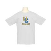 Youth White T Shirt-Interlocking UC Riverside