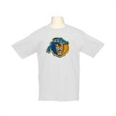 Youth White T Shirt-Highlander Bear