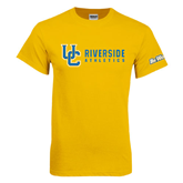 Gold T Shirt-Interlocking UC Riverside Side Version
