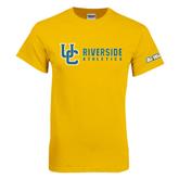Gold T Shirt-Interlocking UC Riverside Side Version